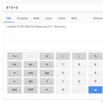 google suche tipps ausrechnen